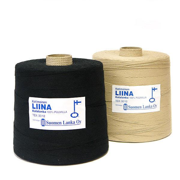 Kokvilnas diegs Liina melns 1,8 kg spolēs