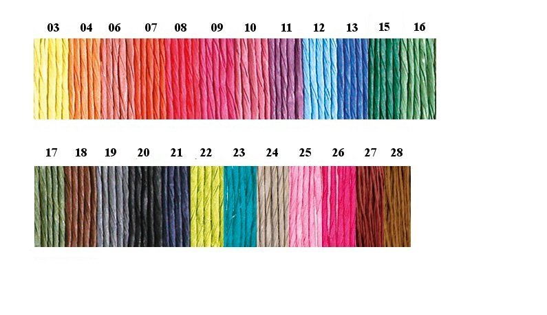 Papīra aukla smalka (krāsaina)
